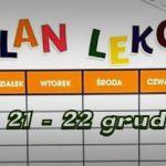 Plan lekcji: 21 – 22 grudnia