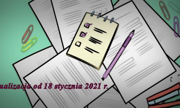 Procedury organizacji pracy wZSO od1 września 2020 r. (zaktualizacjami od18.01.2021 r.)